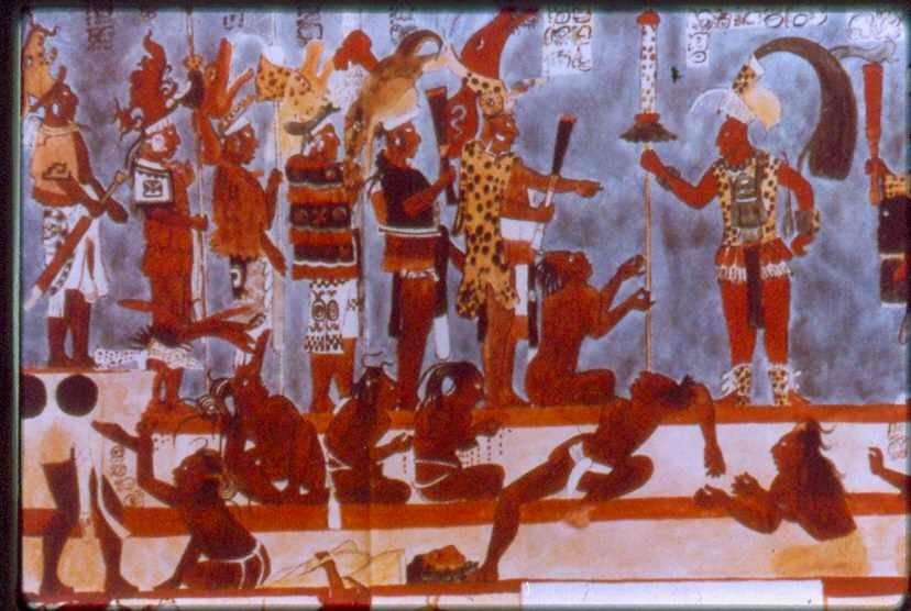 Arte y medios de comunicacion los frescos de bonampak for Bonampak cuarto 2