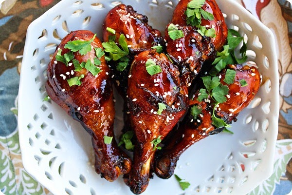 Sweet 'n Sticky Baked Chicken Drumsticks