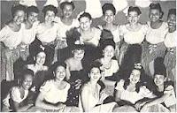 membros da banda de jazz International Sweethearts of Rhythm, no início da carreira