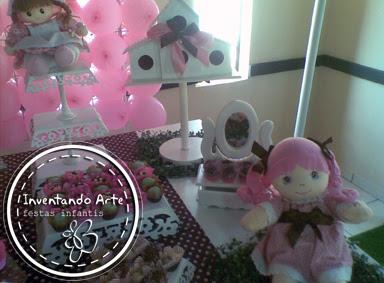 festa infantil marrom rosa ponta grossa bonecas
