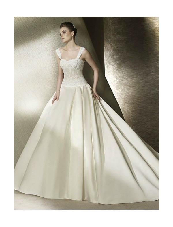 DressyBridal Hot Sold Ball Gown Wedding Dresses 2013 Chapter Satin