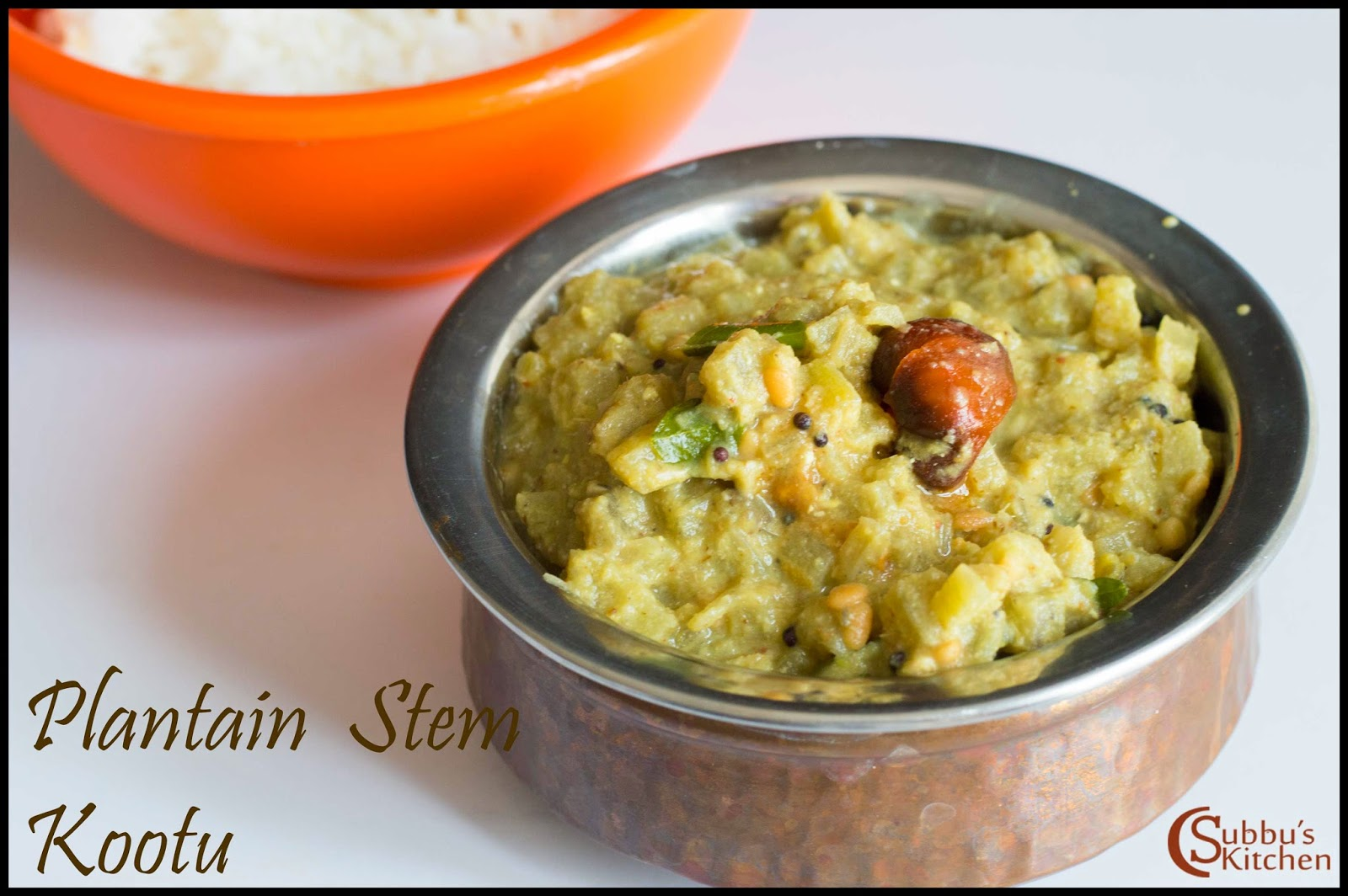 Plantain Stem Stew Recipe | Vazhathandu Kootu Recipe