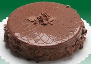 Torta gelada diet de chocolate e laranja