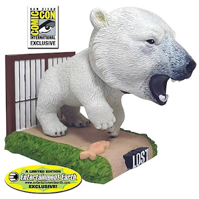 San Diego Comic-Con 2011 Entertainment Earth Exclusive LOST Dharma Initiative Polar Bear Bobble Head by Bif Bang Pow!