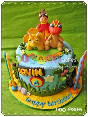 Olanos Dinosaur King Birthday Cake for Arvin