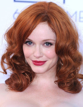 Sexy red haired actress Christina Hendricks at the 2012 Emmy Awards