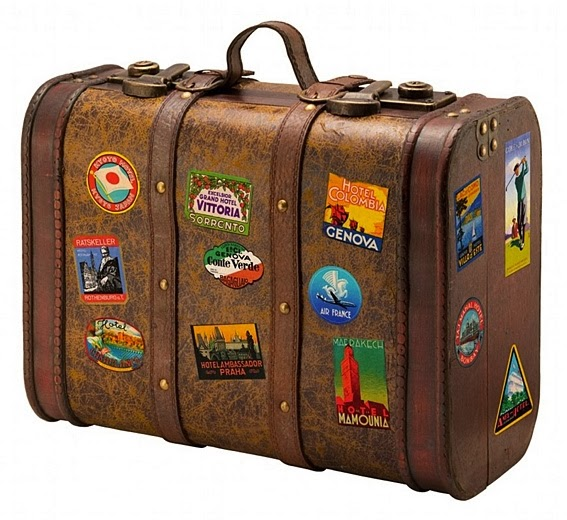 maleta marron