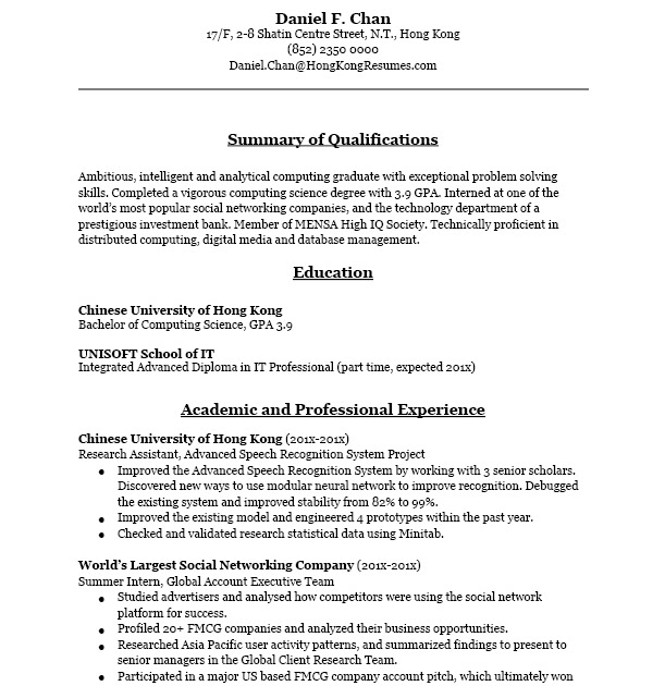 Cv writing service hong kong