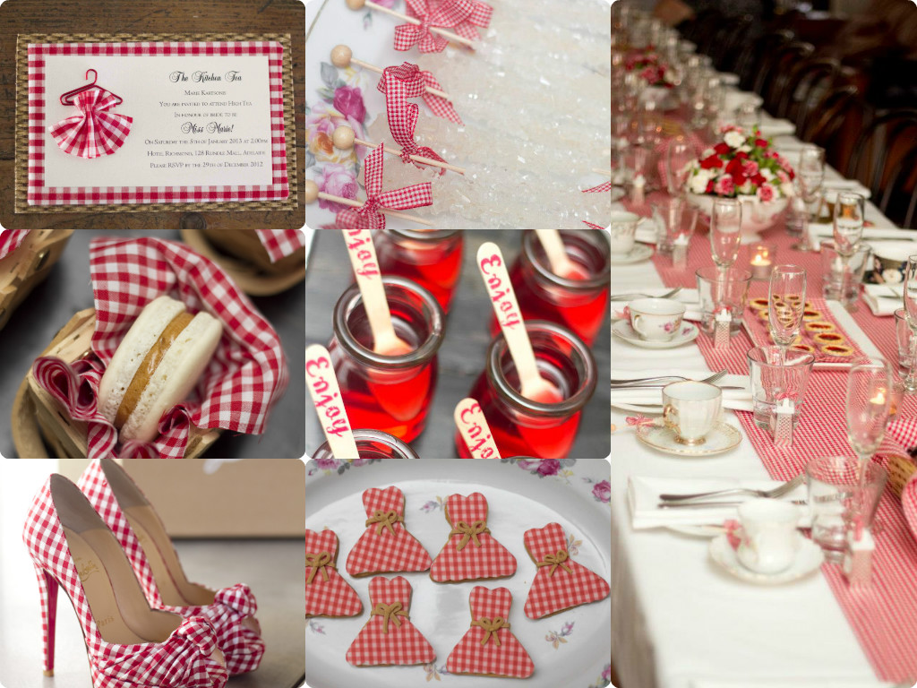 Kitchen Tea Themes Little Big Company The Blog Gorgeous Gingham Kitchen Tea By