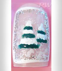 "Коледен nail art ""Снежно борче"""