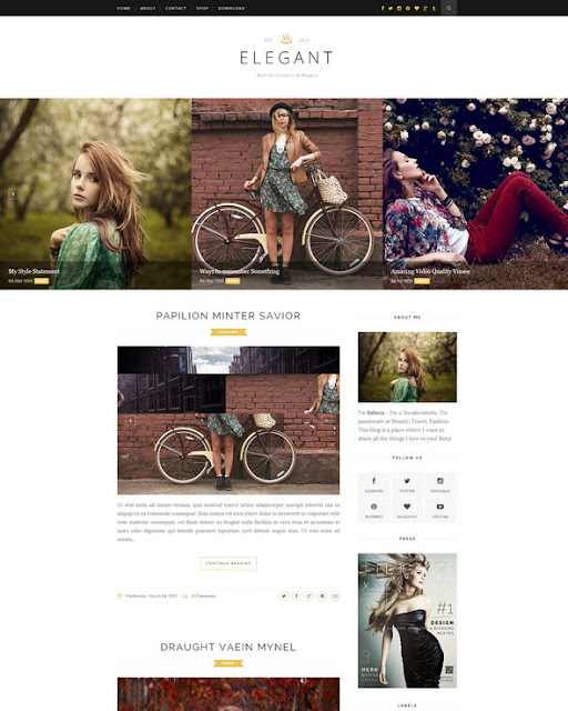 Elegant - Free Blogger Theme to Download in 2016