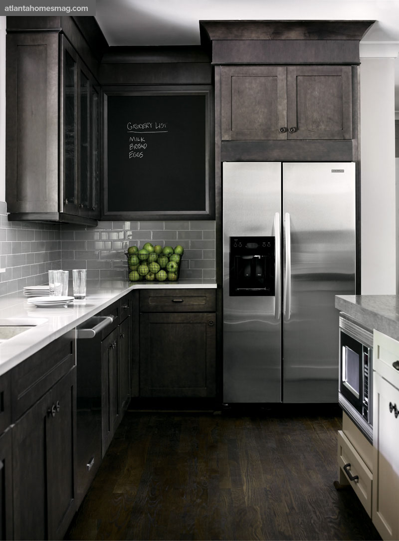 Dark Hardwood Floors In Kitchen Grey Kitchen Cabinets Dark Wood Floors Quicuacom