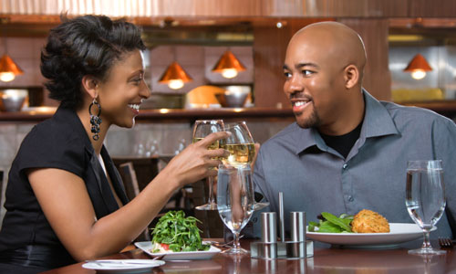 5 Tips for Dating After Divorce,man woman date romantic black couple drinking sitting on table