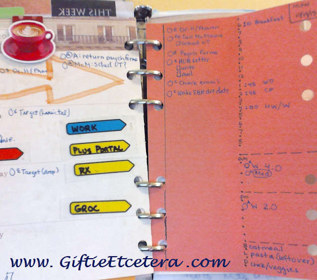 planner, paper, schedule, menu, checklist, budget, daily docket,