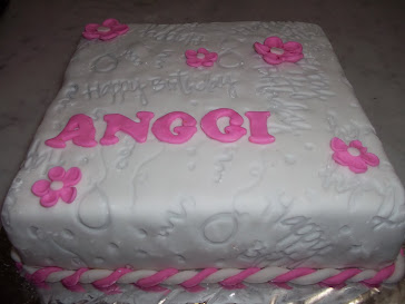 Birthday Cake by  Fondant for Anggi