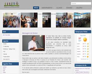 Página do Agrupamento de Escolas de Pinhel