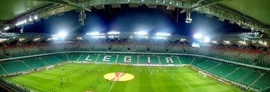 Panorama pustego stadionu Legii - fot. Tomasz Janus / sportnaukowo.pl