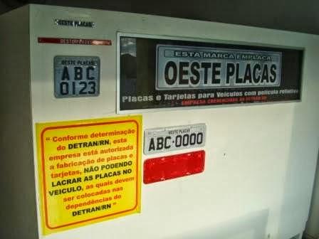 AGORA EM PATU - OESTE PLACAS - EMPRESA CREDENCIADA AO DETRAN/RN - FONE: (84)-9940-2392
