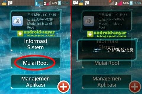 Cara root LG E435 Dual tanpa upgrade KDZ CIS