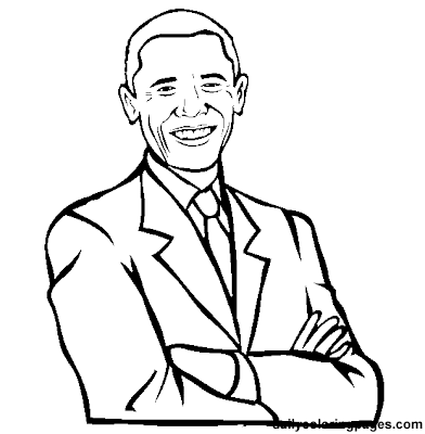 President Obama Coloring Pages for Kids