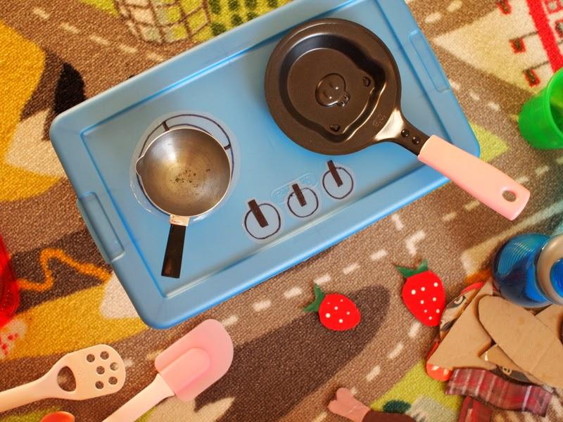 Diy kids 39 portable stove top pink stripey socks for Diy cooking stove