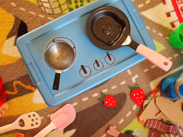 How to make a toy stove top for kids