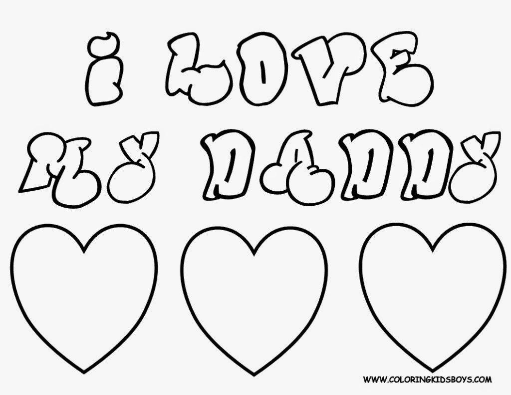 Father Day to Draw Print Color