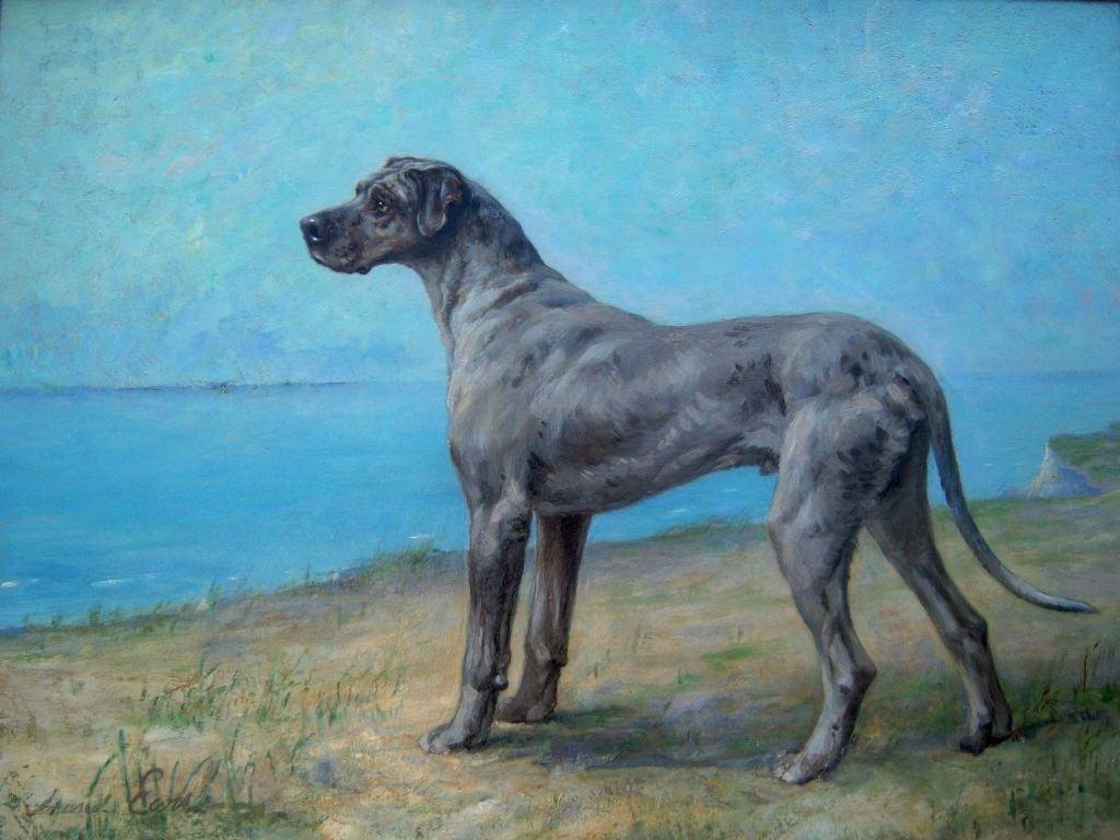 Victorian British Painting Dog Paintings