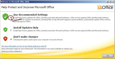 Help Protect and Improve Microsoft Office Pop-up