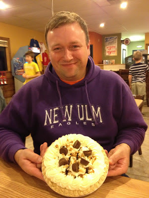 John and his Birthday Peanut butter cup pie