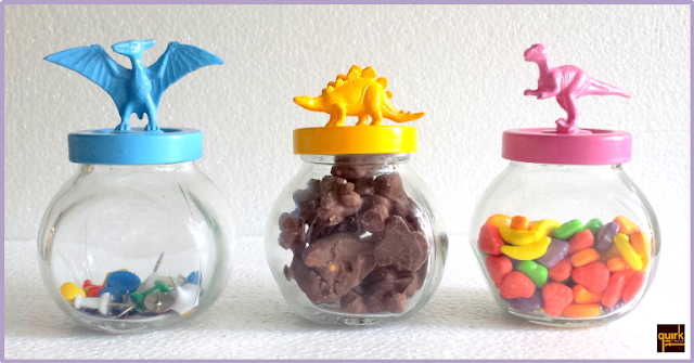 quirkitdesign_mason jars dinosaur lid_color_play_kids_quirky_DIY_home_decor