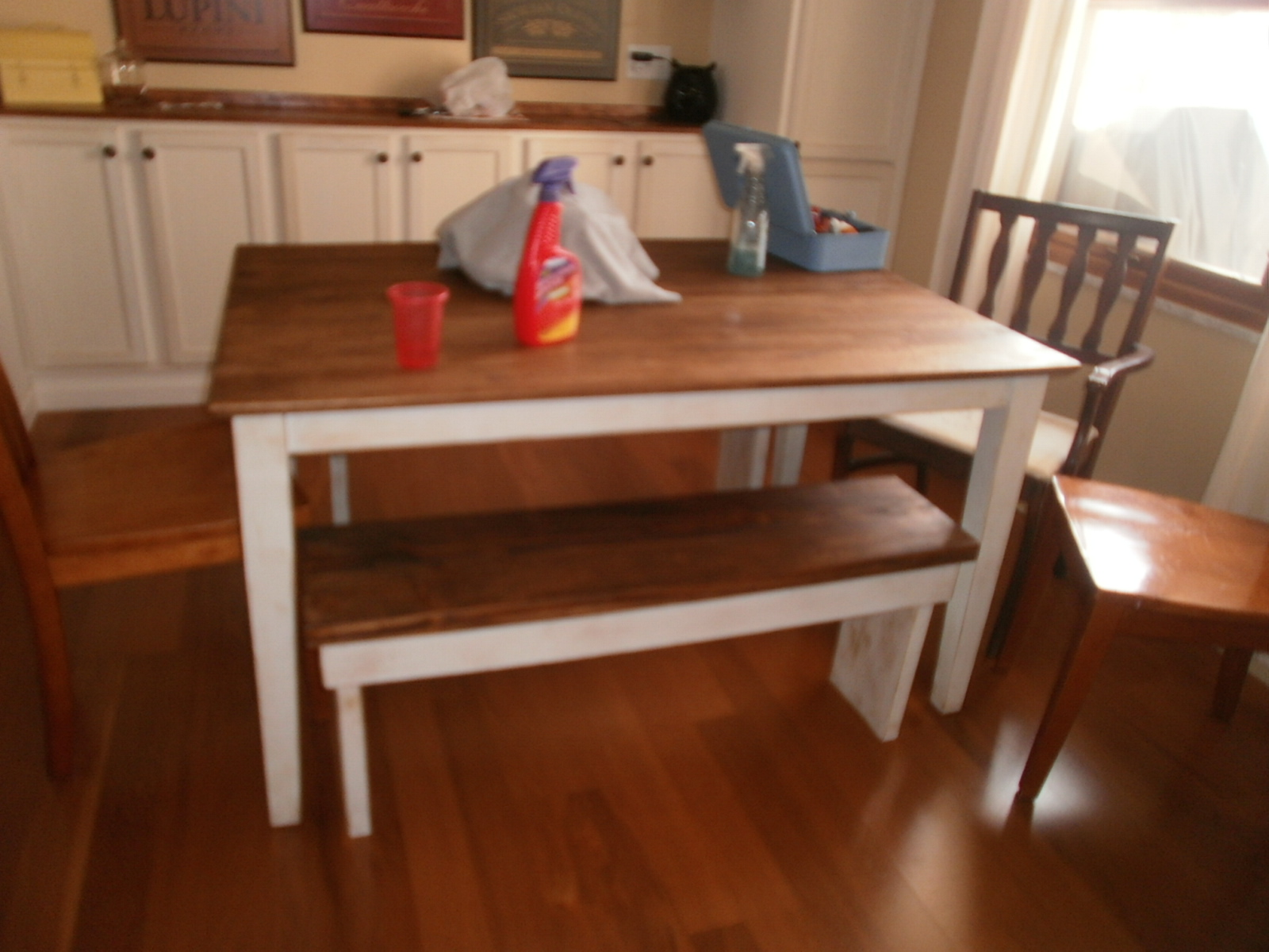 DIY Dining Room Tables with Benches
