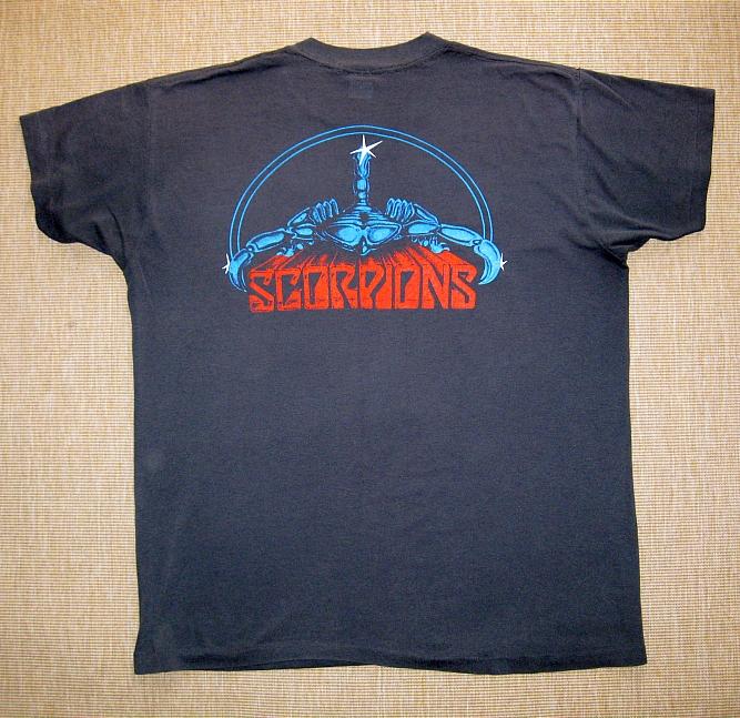 Scorpions Tour T Shirts