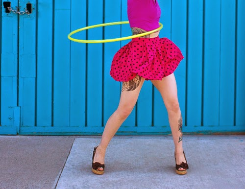 hula hoop - colorful