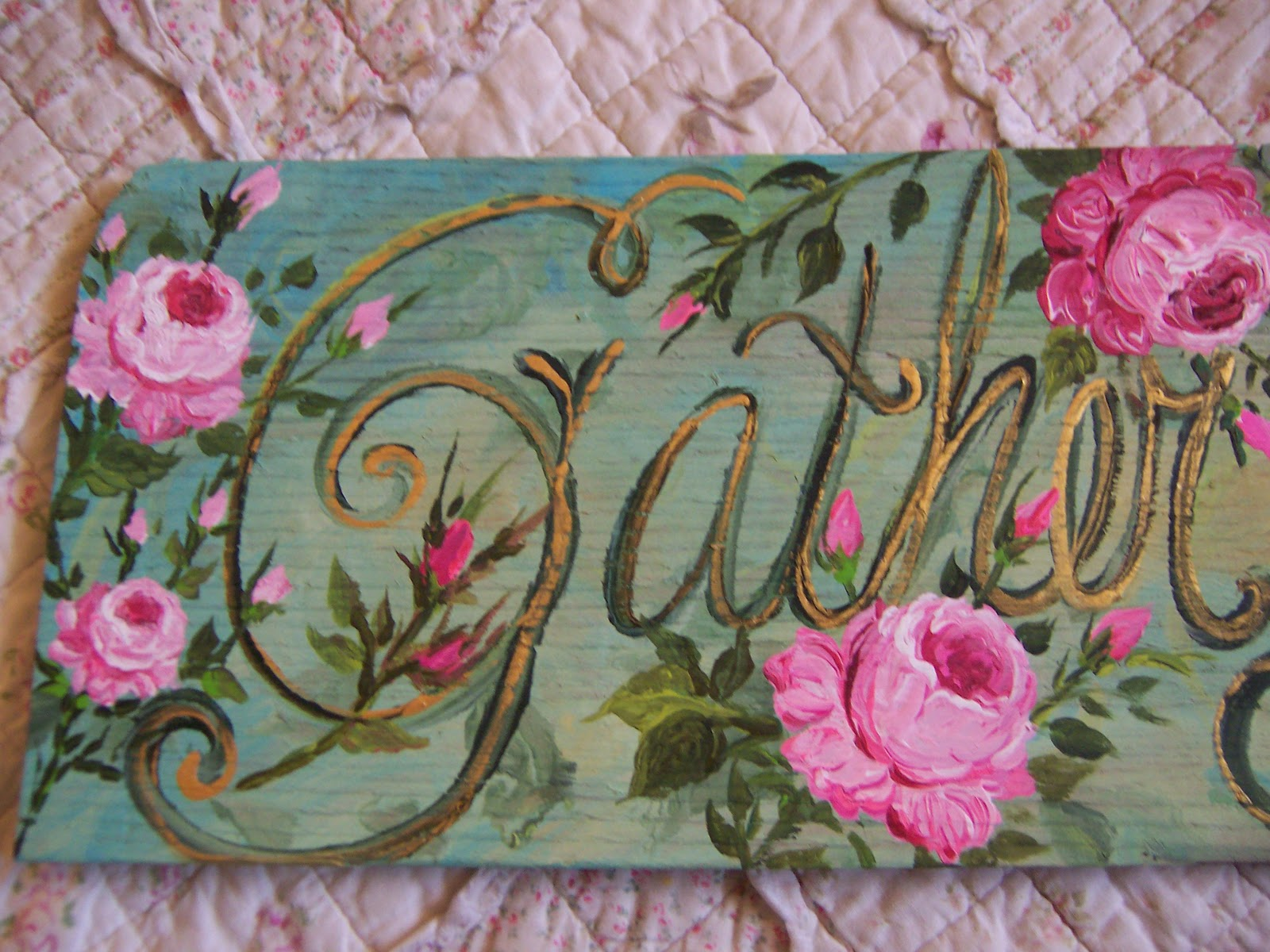 ... For The Gather Ye Roses Sign And Brocante Is A French Type Of Flea  Market. Nice Gold Accents Grace Each Sign. They Will Be Listed On My  Website Soon.