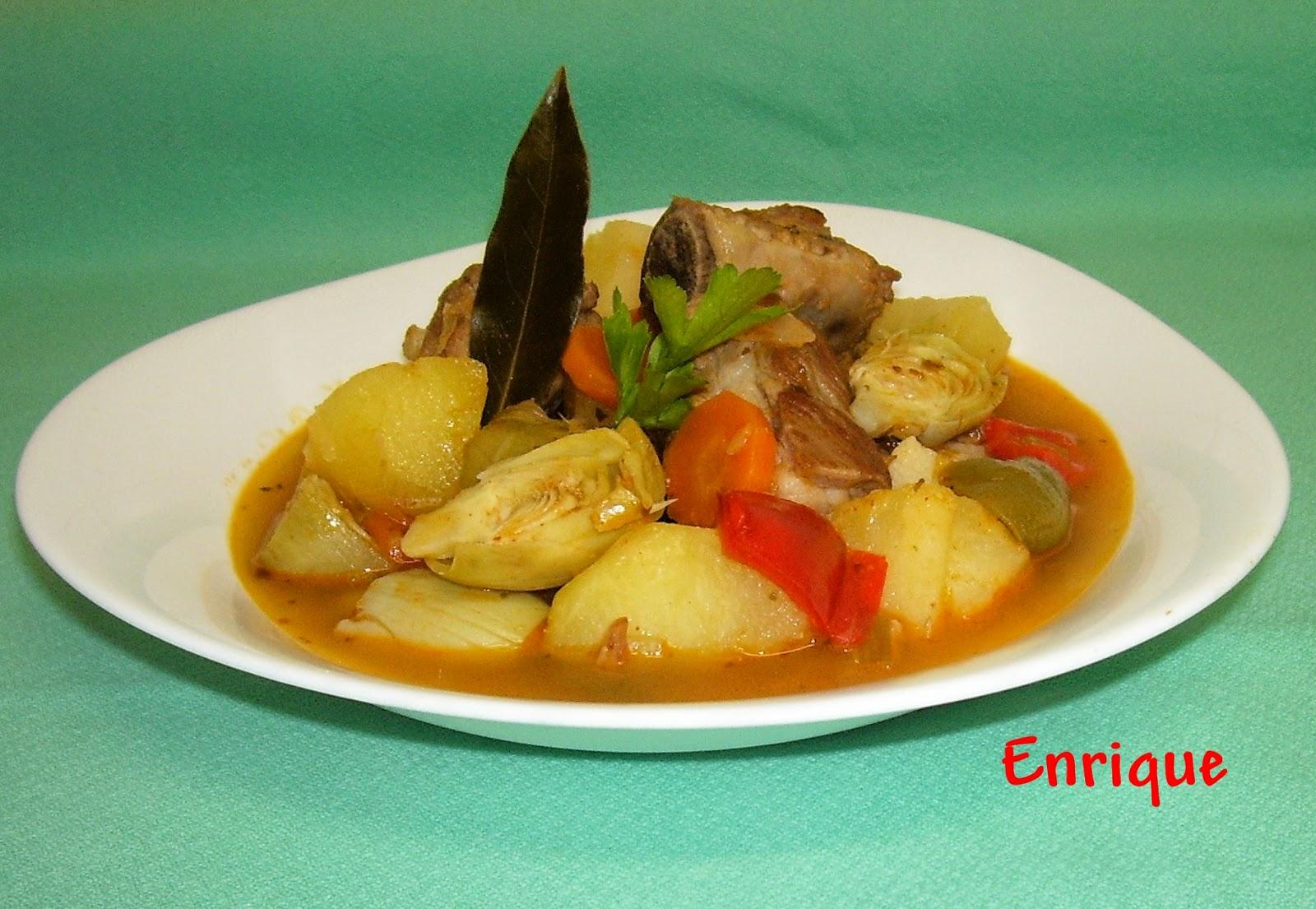 La cocina de enrique patatas con costillas de cerdo y - Patatas con costillas de cerdo ...