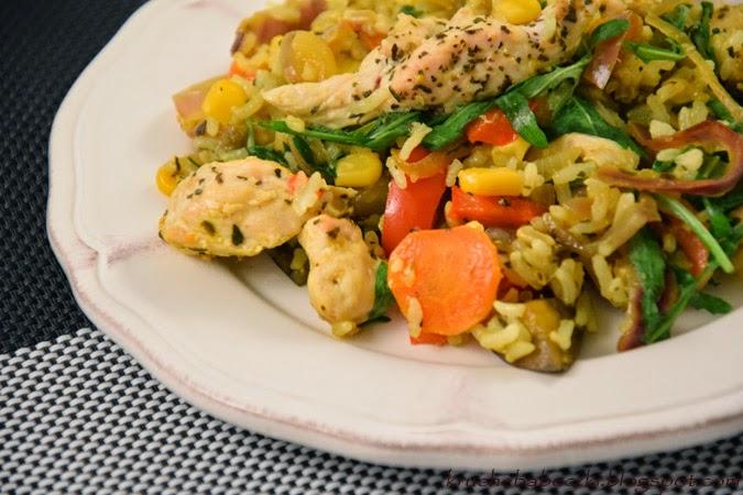 Zapieczone warzywa z kurczakiem