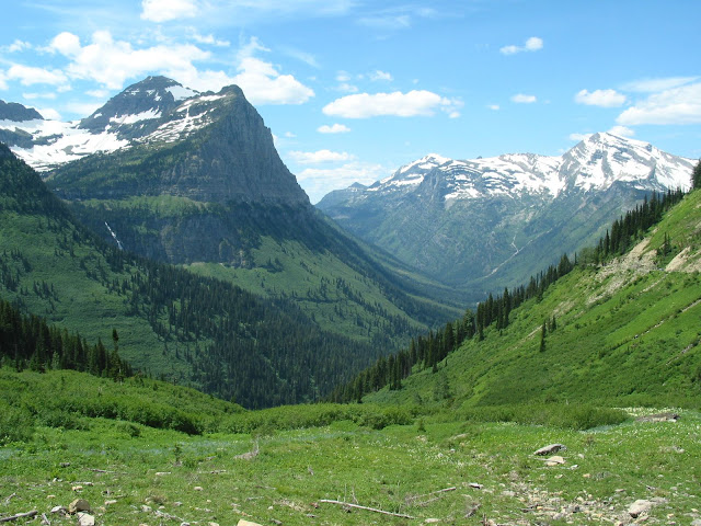 U-shaped valley in Glacier National Park in Montana, United States.
