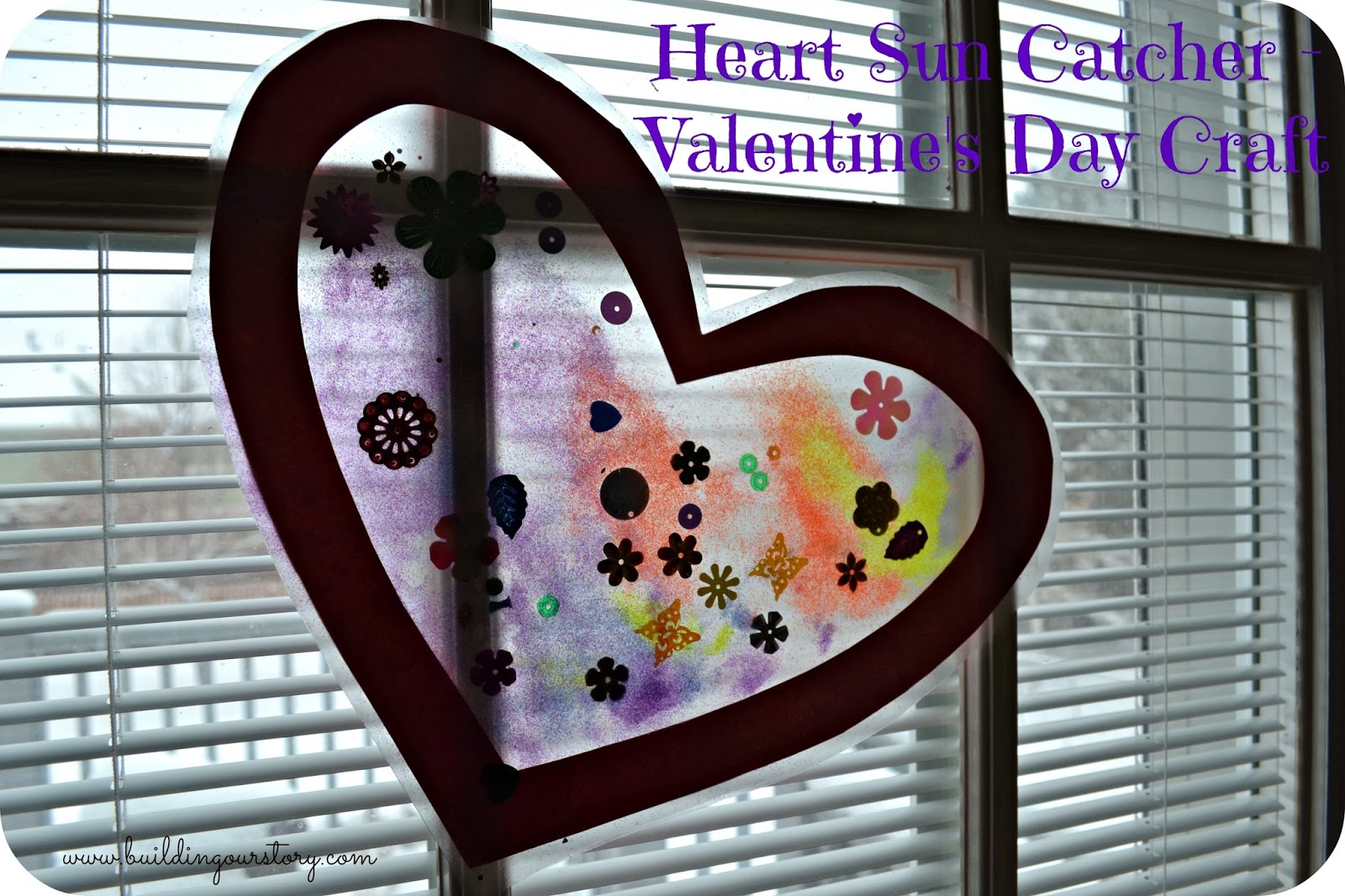 Heart Sun Catcher - Valentine's Day Craft