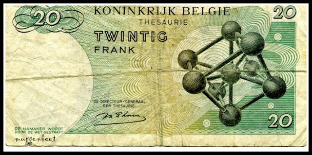atomium op geldbriefje