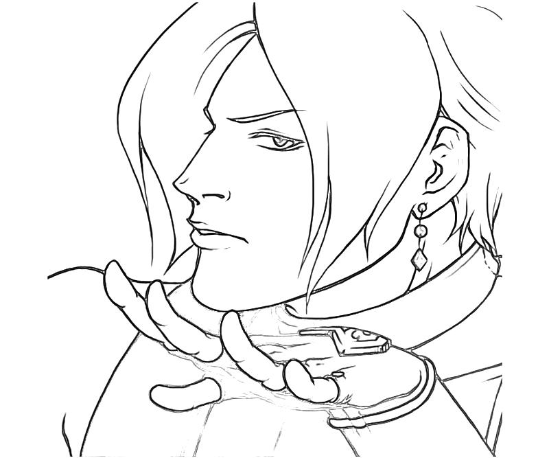Printable King of Fighters Adelheid Bernstein Portrait Coloring Pages title=