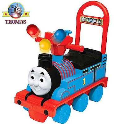 Fun play Thomas the tank ride on railway vehicle Thomas & friends toy train flashing colorful lights