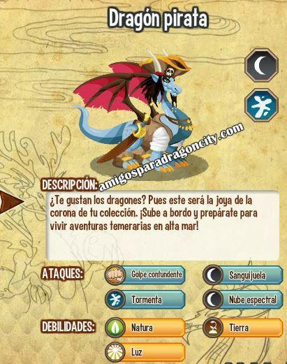 imagen de las caracteristicas del dragon pirata
