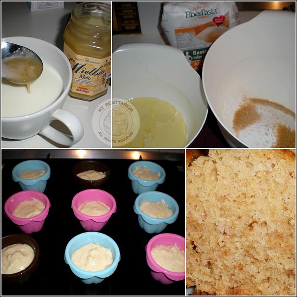 Muffin con miele e cocco