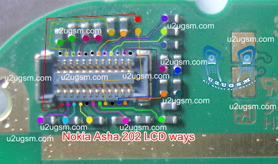 Nokia Asha 202-203 Lcd-display problem solution-with jumpers Solution