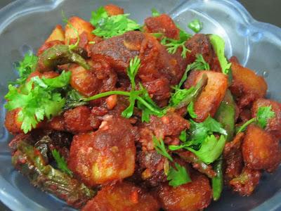 How to make spicy potato 65