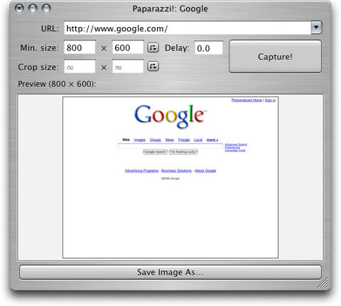Download besplatni programi Paparazzi za Mac OS X