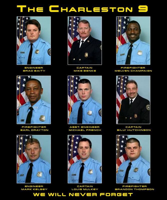 BELTON FIRE DEPARTMENT: Remembering the Charleston 9 - June 18, 2007