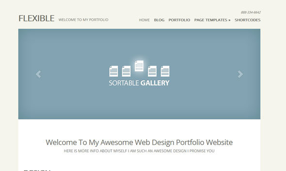 Flexible WordPress Theme Free Download by ElegantThemes.