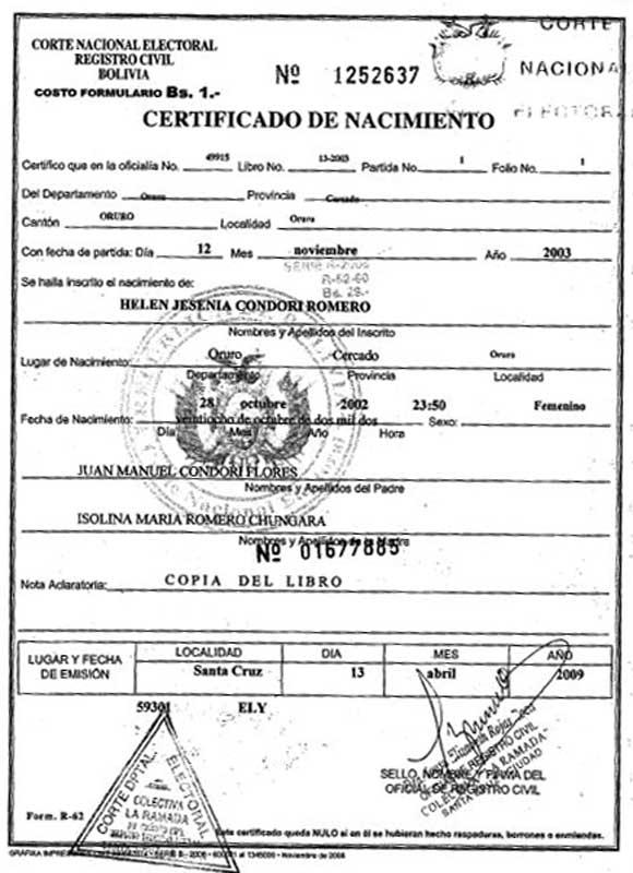 Derecho Bolivia: ¿Qué es el Registro Civil?